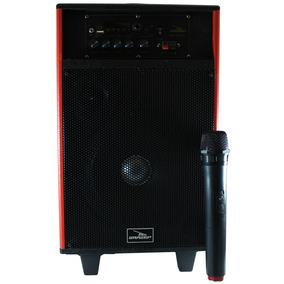 Caixa Som Amplificada Bluetooth Usb Sd Microfone Sem Fio