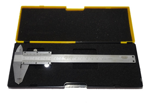 Calibrador Metálico Pie De Rey 150 Mm O 6 P + Estuche