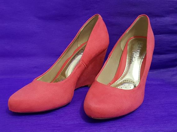 Sapato Beira Rio Rosa Camurça