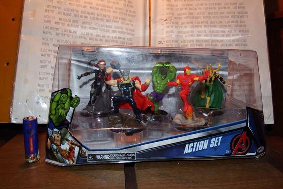 Action Set Avengers Jakks Pacific Iron Man Hulk Thor Marvel