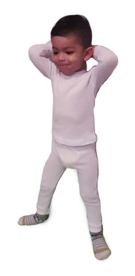 Pijama Termica Bebe Color Blanca Talla 3 - 6 - 12 - 18 - 24
