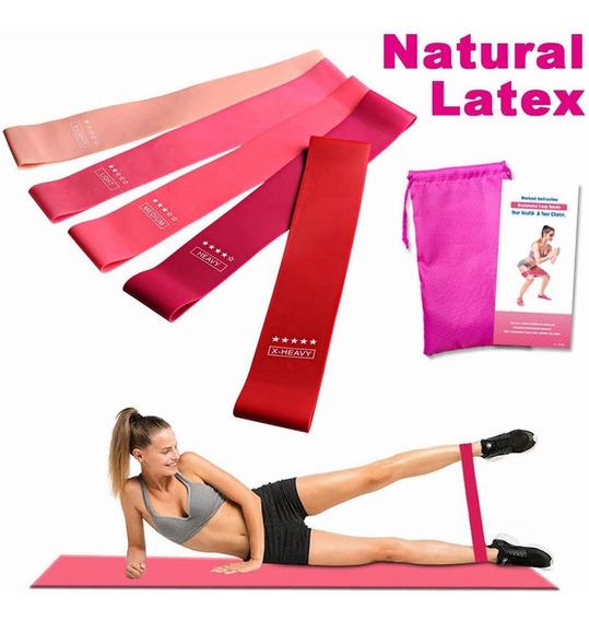 Bandas Elásticas Para Ejercicios, Yoga, Pilates, 5 Unidades