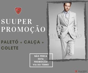 Terno Masculino Cinza Claro + Colete Promoção P/ Noivos