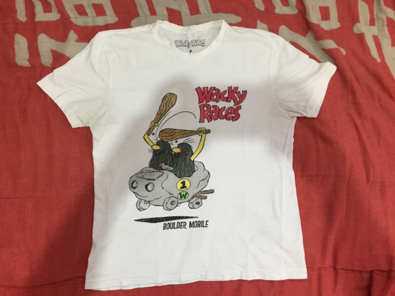 Camiseta Corrida Maluca Wacky Races Capitão Caverna - Tam. P