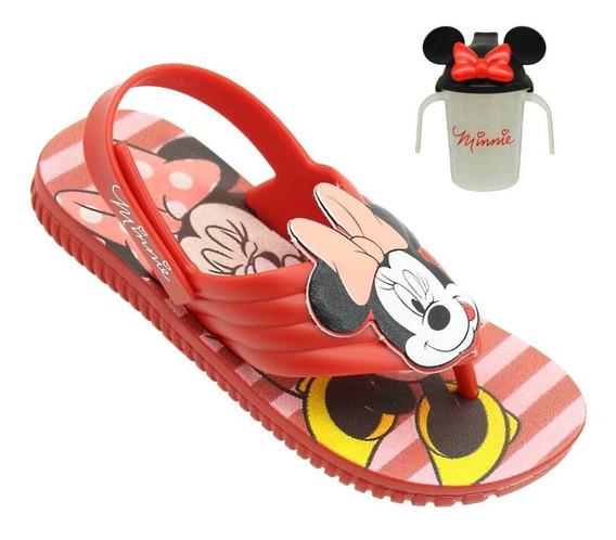 Sandália Baby Mickey E Minnie Feminina Com Copo Mamadeira