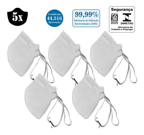 Imagem 1 de 7 de 5x Máscara N95 Hospitalar 4 Camadas Reutilizável E Regulável