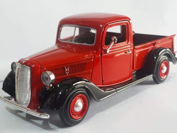 Miniatura Pick Antiga 1937 Ford Escala 1.24 Coleção Metal