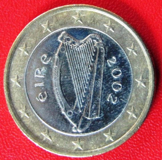 Irlanda Moneda Bimetalica 1 Euro 2002 Au Km #38