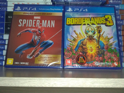 Borderlands + Spiderman Ps4 Lacrado