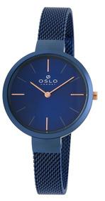 Relógio Oslo Oftsss9t0011 D1dx Slim Azul Original