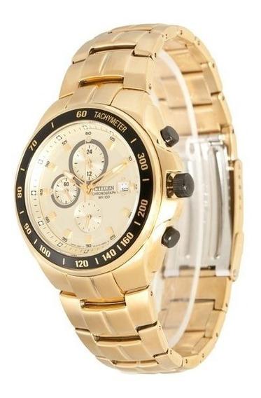Relógio Original Citizen An4012-51p Dourado C/ Garantia E Nf
