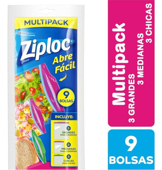 Ziploc Bolsa Multipack 9 Unidades - 12 Paquetes