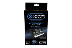 Fonte Power Play Power Key Para Teclado Yamaha 12v Bivolt