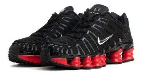 Tenis Nike Shox 12 Molas Original Black-red Imperdível Top