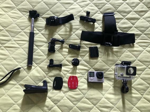 Câmera Gopro Hero 4 Black + Cartão 32gb + Acessórios
