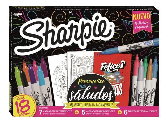 Marcadores Sharpie Permanente Edición Especial Saludos X17