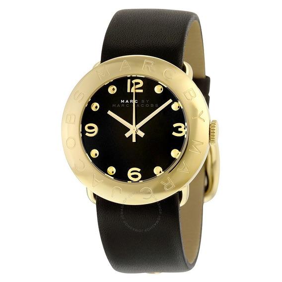 Relógio Feminino Marc Jacobs Amy Couro Preto Mbm1154