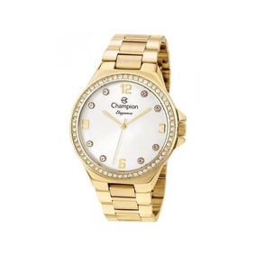 Relógio Champion Feminino Dourado Cn25725h