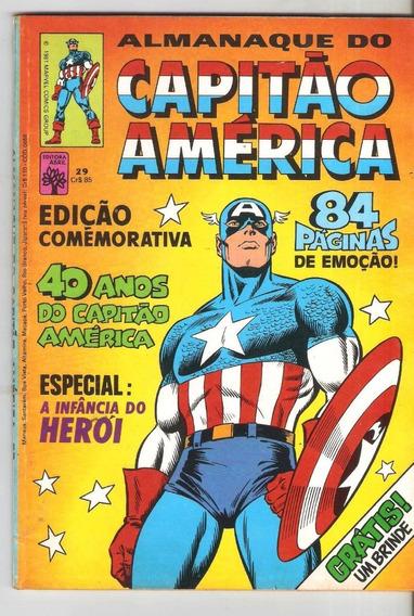 Capitão América 29 - Edit Abril - Frete Grátis Com O Brinde