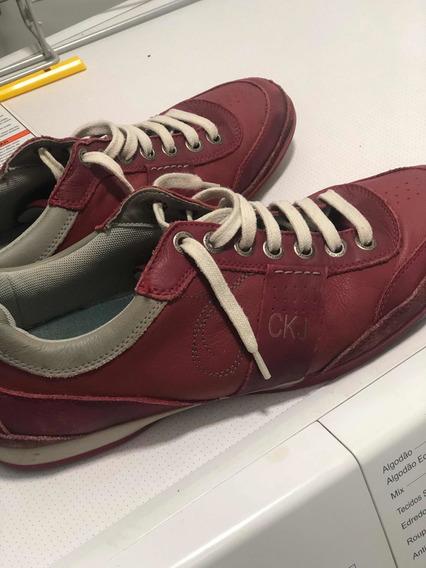 Sapatênis Calvin Klein 43 - Vinho/vermelho