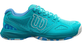 Tenis Wilson Kaos Devo Comp Azul Dama