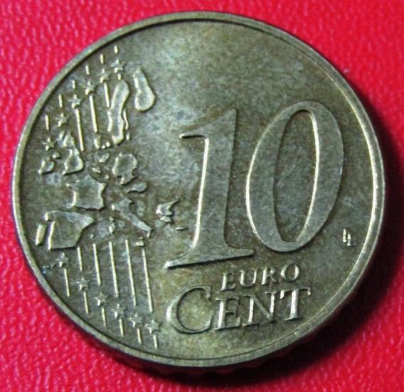 Luxemburgo Moneda 10 Centavos 2002 Unc Km #78