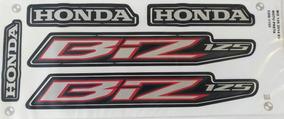 Kit Jogo Faixa Adesivo Honda Biz Es 125 2014 Preta