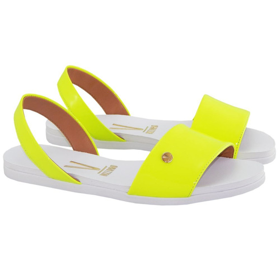 Sandalia Vizzano Rast Verniz Neon Amarelo 6352113 Blogueira
