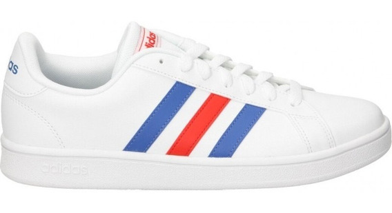 Tenis adidas Neo Grand Court Base Blanco/rojo/azul Ee7901
