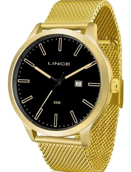 Relógio Masculino Lince Mrg4494s P1kx Dourado