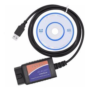 Scanner Automotriz Elm327 Obd2 Multimarca - + Cd - Usb, Ya, Mania-electronic