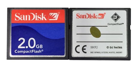 Cartão De Memória Compact Flash (cf) Sandisk 2gb