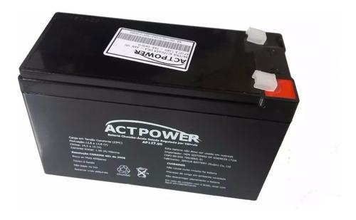 Imagem 1 de 1 de Bateria Selada Para Central De Alarme 12v 7a Actpower