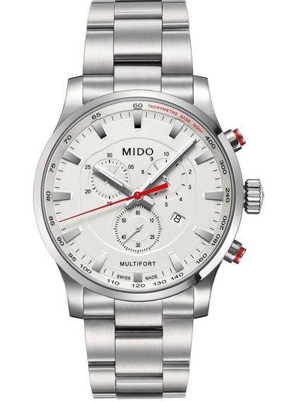 Reloj Mido Multifort Chrono Hombre M0054171103100 Plateado