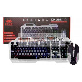 ¿kit Teclado Mouse ¿gamer Kp-2054 3 Cores De Iluminação