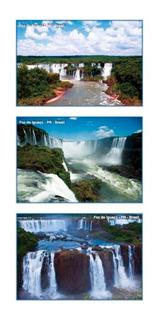 Set Com 9 Cartões Postais Cataratas Do Iguaçú