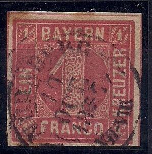 Alemanha - Baviera - Mi Nº 3 - U - 4 Mgs - Pequeno Aminci