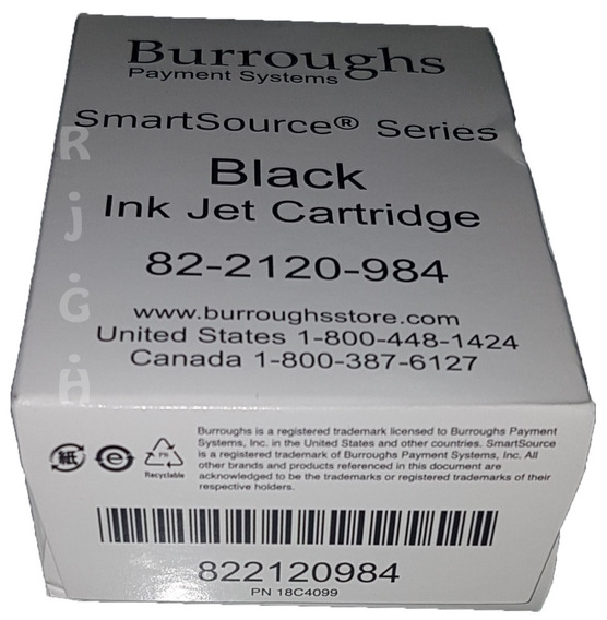 Cartucho Burroughs Payment Systems Black.