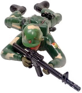 Muñeco Juego Juguete Soldado Que Se Arrastra Y Dispara