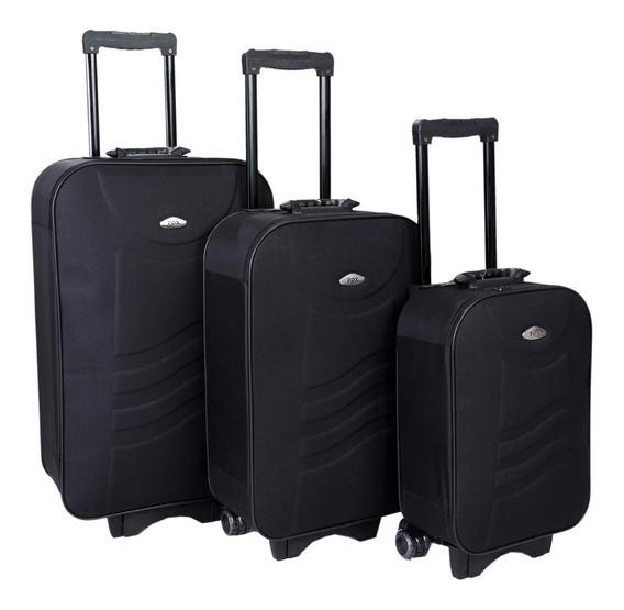 Conjunto Mala De Viagem Com 3 Peças (mala P Medida Anac)