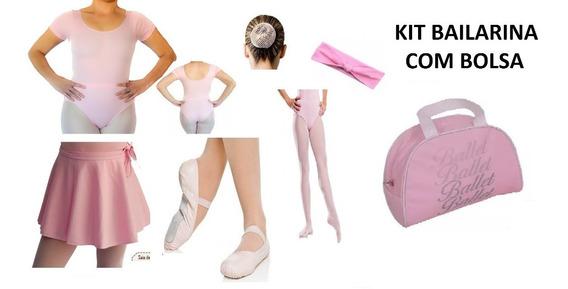 Bale Ballet Roupa Kit Completo Bolsa De 2 A 10 Anos
