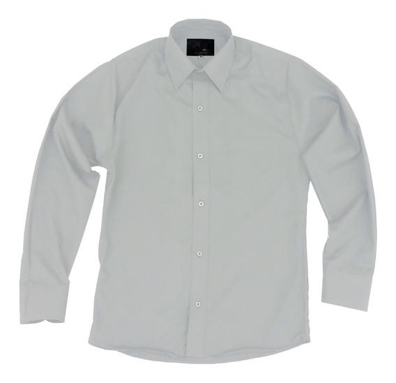 Camisa Vestir Infantil Juvenil Gris Claro Perla 2 A 16