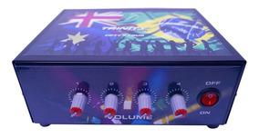 Amplificador De Mesa Mixer Setorizador Som 200wrms 4 Canais