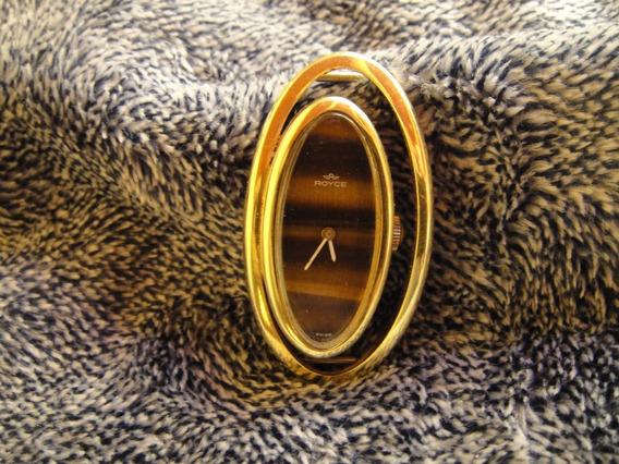 Reloj Dama Vintage, Royce Caratula Ojo De Tigre