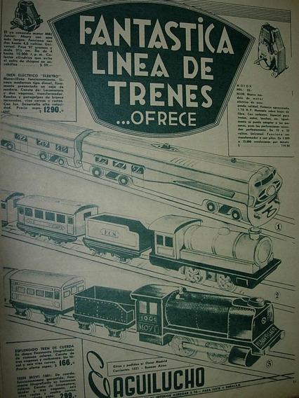 Publicidad Clipping Juguete Aguilucho Linea Trenes Locomotor