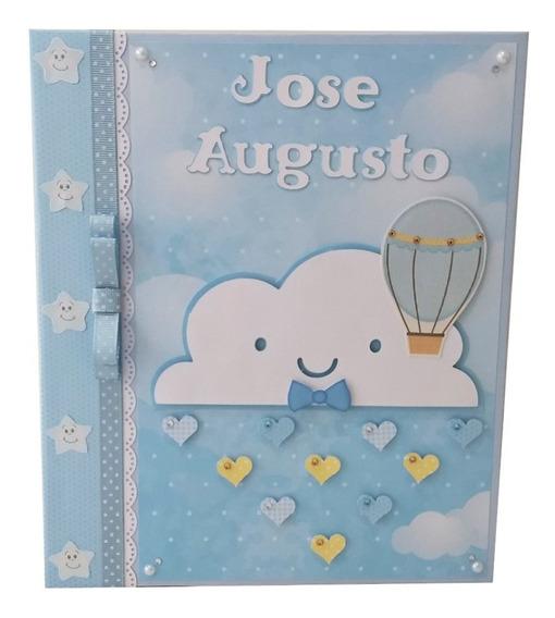 Álbum Diário Livro Do Bebê Chuva Amor Bençãos Personalizado