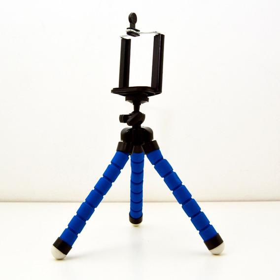 Mini Tripé Flexível Suporte Celular Gopro Cameras