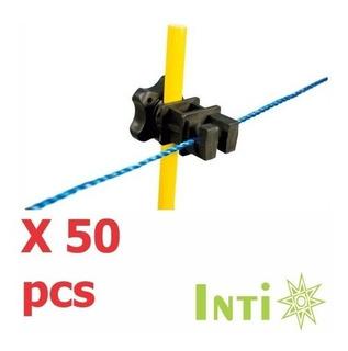 Aislador Para Cerca Eléctrica Poste Varilla Uv X 50 Pcs