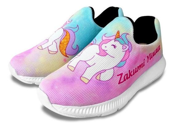 Zapatillas Unicornio Arcoíris Personalizado