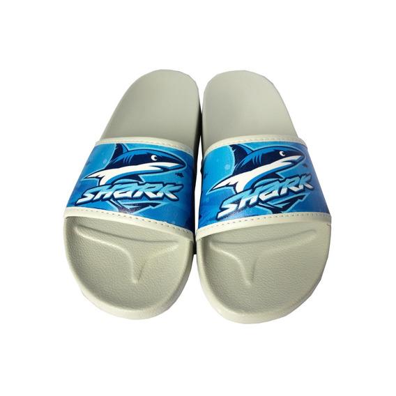 Sandalia Chinelo Slider Azul E Cinza 28 A 33 Pimpolho 40018c